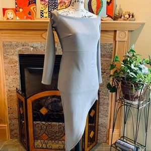 Misguided Asymmetrical Dress in Gray